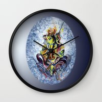 ganesha Wall Clocks featuring Ganesha by Harsh Malik
