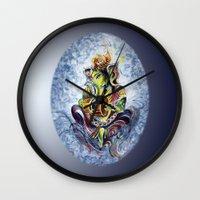 ganesha Wall Clocks featuring Ganesha by Harsh Malik