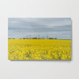When the fields are not green but vibrant yellow! Metal Print