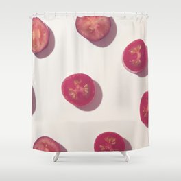 #2_Red Tomatoes Shower Curtain