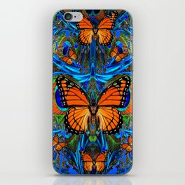 """""""FOR THE LOVE OF MONARCHS & BLUE PEACOCKS"""" iPhone Skin"""