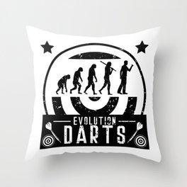 Evolution Darts Throw Pillow