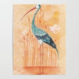 An Exotic Stork Poster
