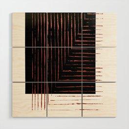 color block. black Wood Wall Art