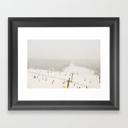 powder day Framed Art Print