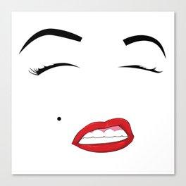 Red Lipstick Canvas Print