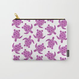 Sea Turtle in Pink Carry-All Pouch