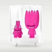 mouth Shower Curtains featuring mouth breathers by simon oxley idokungfoo.com