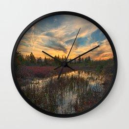 Autumn Dolly Sods Sunset Wall Clock