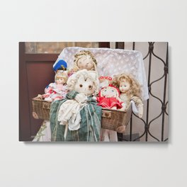 Retro rag dolls toys collection Metal Print