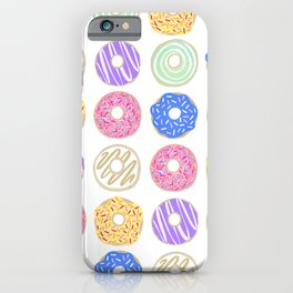 Colorful Donuts Illustration iPhone Case