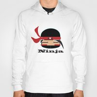 ninja Hoodies featuring Ninja by Ninbun