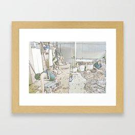 Click go the Shears Framed Art Print