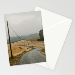 Road trip in France | Summer hay bales landscape photography| Travel wall art Stationery Cards