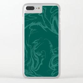 Emerald Swirls Clear iPhone Case