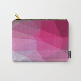 Shades Of Pink Triangle Abstract Carry-All Pouch