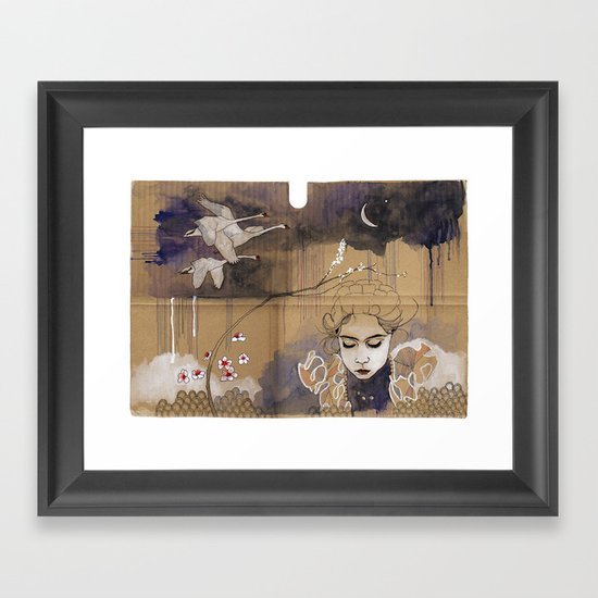 göç (migration) Framed Art Print
