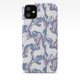 Rainbow unicorns ready for the weekend. iPhone Case