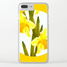 Yellow Spring Flowers with Green Leaf #decor #society6 #buyart Clear iPhone Case