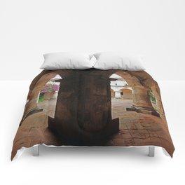 Hallway - Antigua, Guatemala Comforters