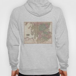 Vintage Map of Southern Scotland (1818) Hoody