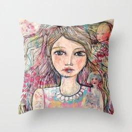Just a Girl  Throw Pillow