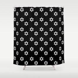 Star of David 5- Jerusalem -יְרוּשָׁלַיִם,israel,hebrew,judaism,jew,david,magen david Shower Curtain