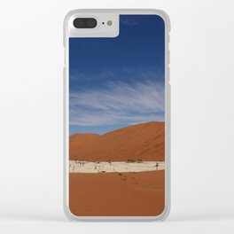 NAMIBIA ... Deadvlei pan Clear iPhone Case
