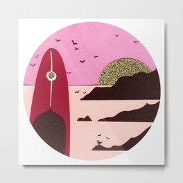 Low tide rocks Metal Print