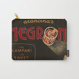 Arancina's Negroni Campari Italian Sweet Vermouth with Gin Red Vintage Advertising Poster Carry-All Pouch