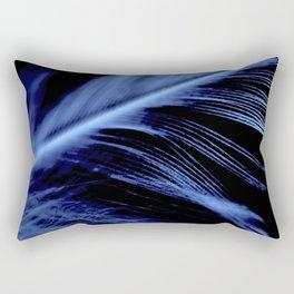 Blue Feather close up Rectangular Pillow
