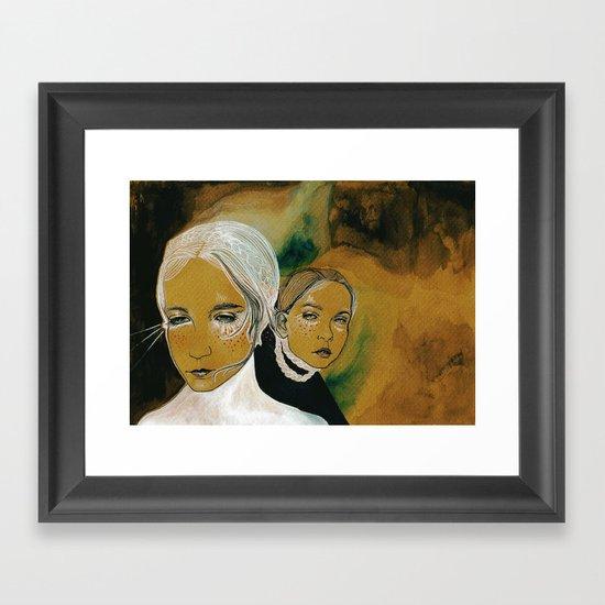 you and i and us (sen, ben, ve biz) Framed Art Print