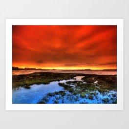 Sunset * Bolsa Chica Wetlands * Huntington Beach, California Art Print