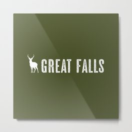 Deer: Great Falls, Montana Metal Print