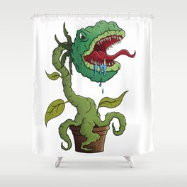 Feed Me! Shower Curtain