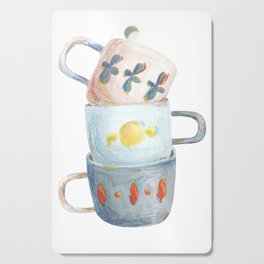 Tea mugs Cutting Board
