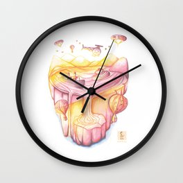 Childish Baker In The Mysterious Island Wall Clock