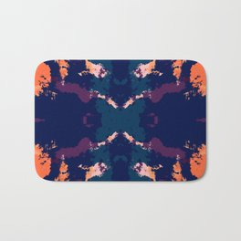 Abstract Dark Rorschach Style Pattern Bath Mat