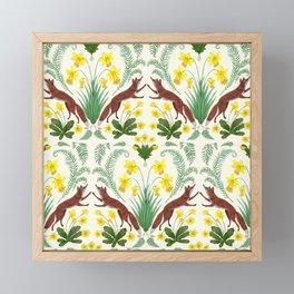 Spring Foxes Framed Mini Art Print