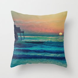 Bouncing Along The Ocean Waves ~ California Throw Pillow