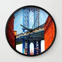 dumbo Wall Clocks featuring Dumbo by Michael Sofronski