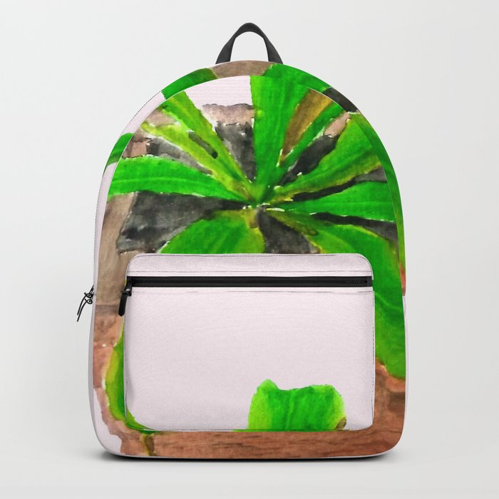 tropical pitcher plant watercolor painting Backpack