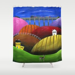 Hilly Hello Shower Curtain