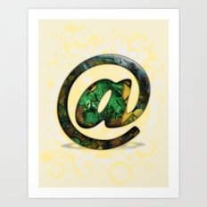 At Sign {@} Series - Cooper Std Typeface Art Print