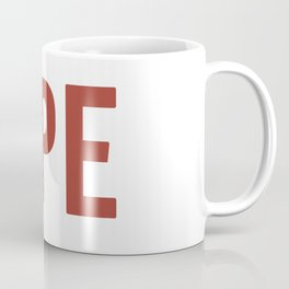 OPE Burgundy Text Coffee Mug