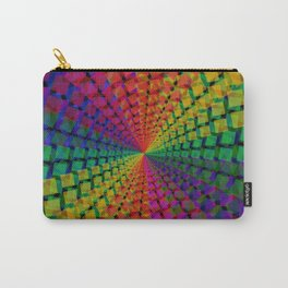 Colorful mosaic pattern design artwork- colorful christmas gifts- pixel art Carry-All Pouch