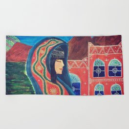 Balqees Alyemen Beach Towel