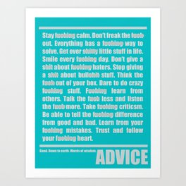 Advices Art Print