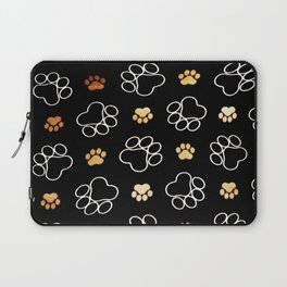 dog pawprint tracks background pet Laptop Sleeve