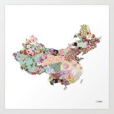 China map Art Print